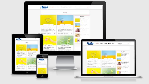Helio Blogger Template Responsive & SEO