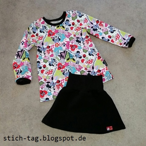 Stich-Tag: Kitschige Minnie Maus Kombi [Shirt mit Rock]
