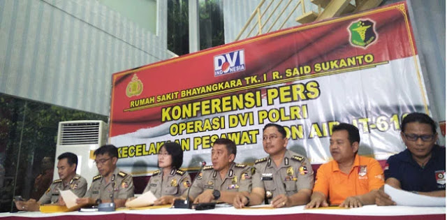 DVI Kembali Identifikasi Tujuh Korban Lion Air