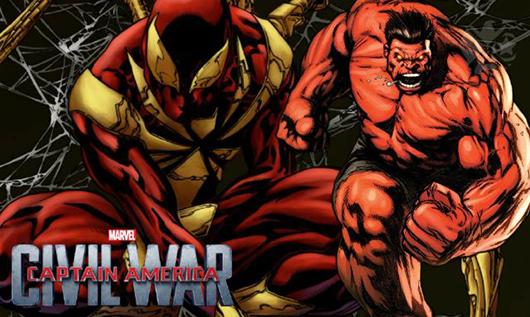 Resultado de imagem para Hulk Vermelho e Aranha de Ferro