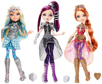 three dolls from the ever after high line in dragon rider outfits