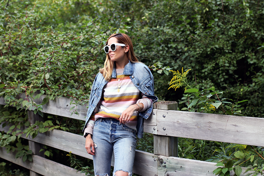 Outfits File: Soft and Cozy Stripes for the First Signs of Fall