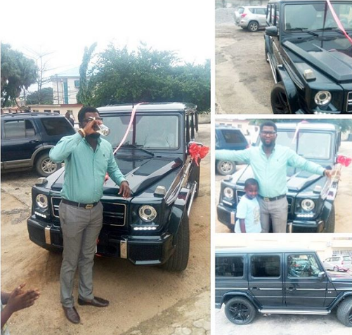 Photos/Video: Rich Nigerian woman surprises her man with a G-wagon