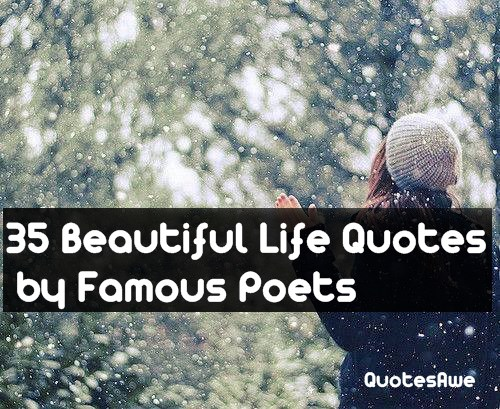 35 Beautiful Life Quotes By Famous Poets