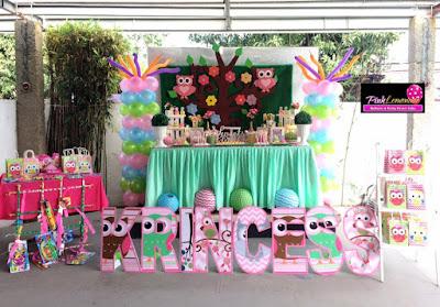 Owl themed Dessert Buffet Set-up