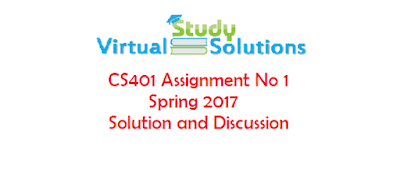 CS401 Assignment No 1 Spring 2017 Solution and Discussion