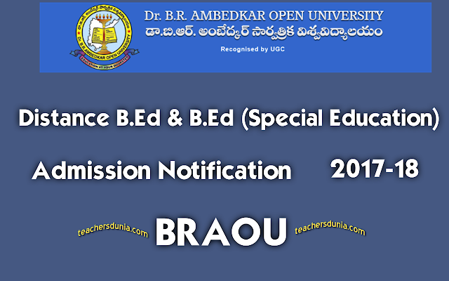 BRAOU-Distance-BEd-Notification-2017