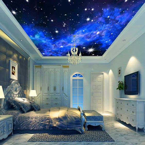 All types of 3d stretch ceiling designs 2019, 3d ceiling art