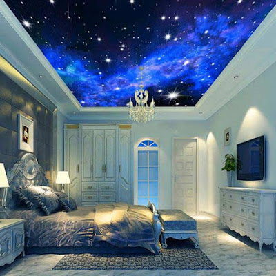 Stretch ceiling,3d stretch ceiling, stretch ceiling DIY, stretch ceiling designs,3d ceiling art for bedroom 2019