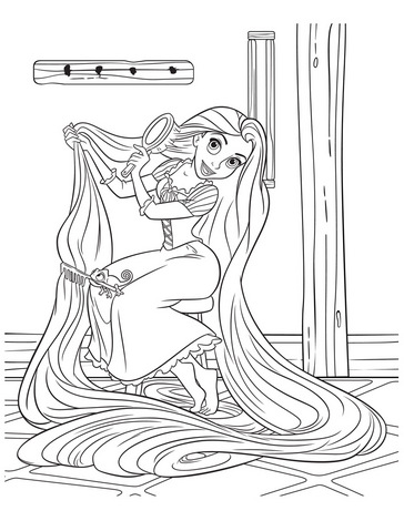 rapunzel coloring pages for kids printable - Tangled Coloring Pages Girls