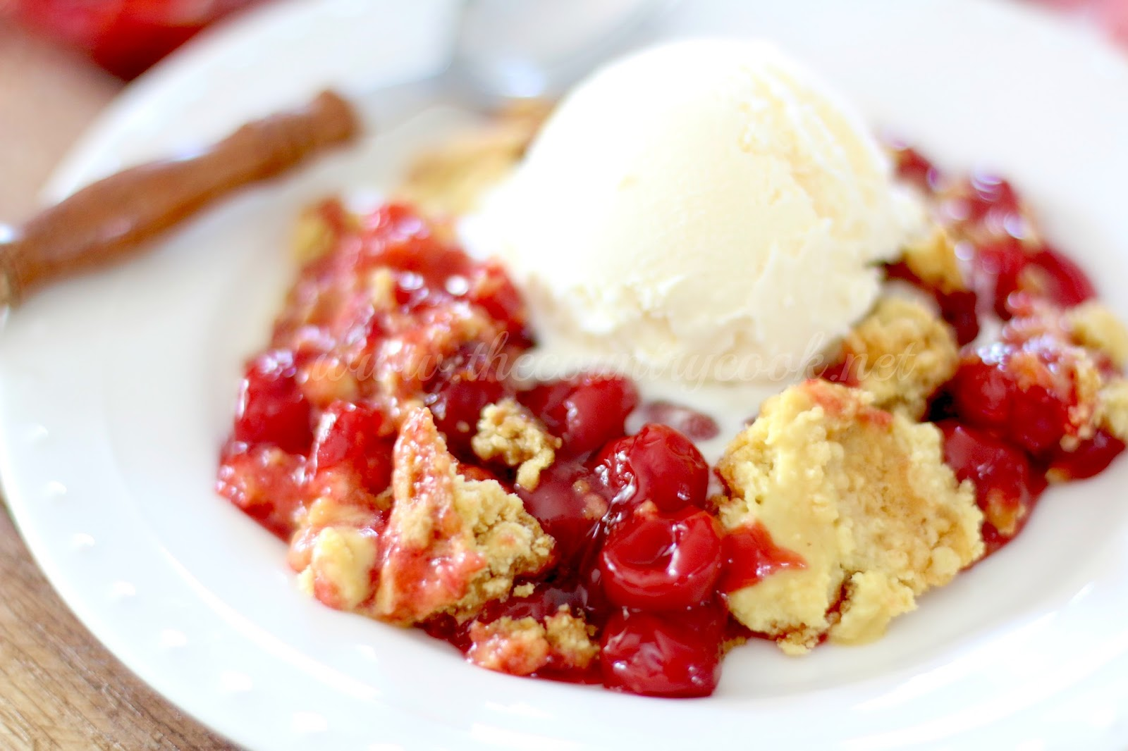 Cherry Dump Cake - The Country Cook