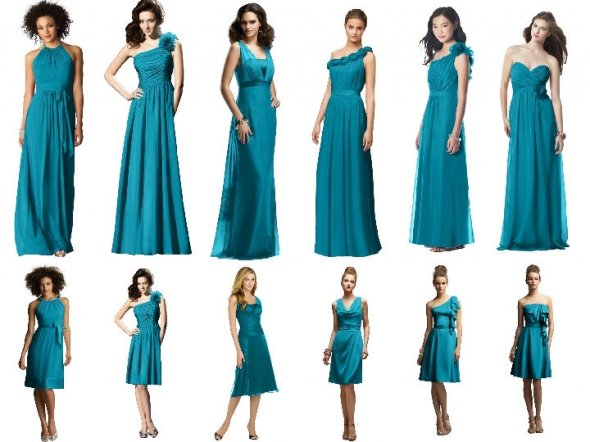 Teal Bridesmaids Dresses : Have your Dream Wedding