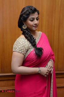 Actress Varalakshmi Pictures in Pink Saree at Madha Gaja Raja Audio Launch  0003.JPG