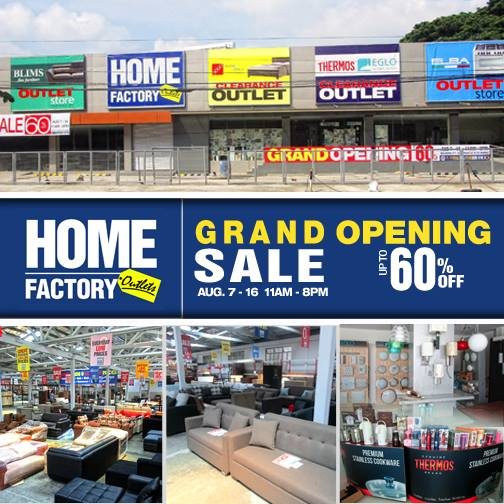 Home Store: Manila Shopper: Home Factory Outlets Store Grand Opening
