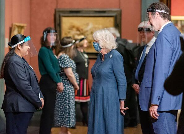 The Duchess of Cornwall visited the National Gallery and Boots' Piccadilly Store. At the National Gallery in Trafalgar Square
