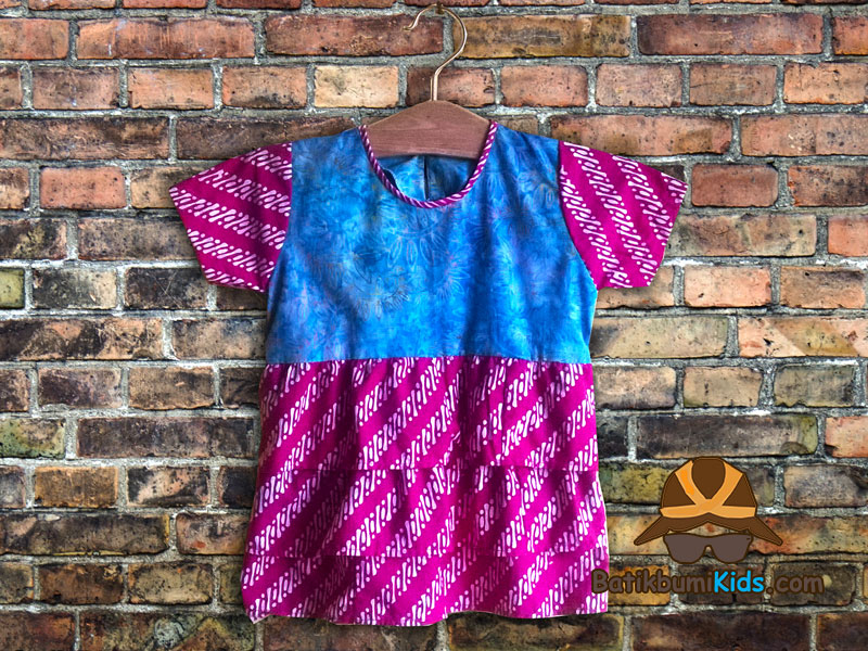 Dress Batik Anak Warna Warni