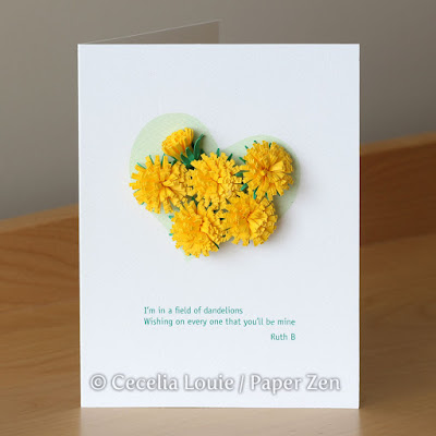 Quilling Fringed Flower #1: Dandelion Tutorial and Pattern Card
