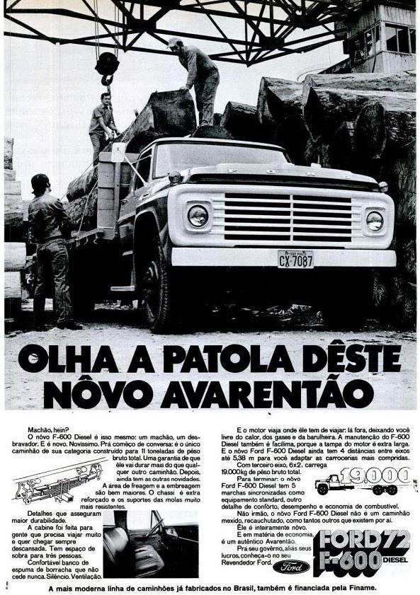 Ford. 1971. os anos 70; história da década de 70; Brazil in the 70s; propaganda carros anos 70; Oswaldo Hernandez;