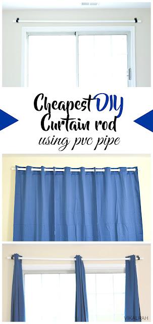 Vikalpah: Cheapest DIY curtain rod using pvc pipe