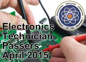 List of Passers Electronics Technician Licensure Examination April 2015 (A-Z)