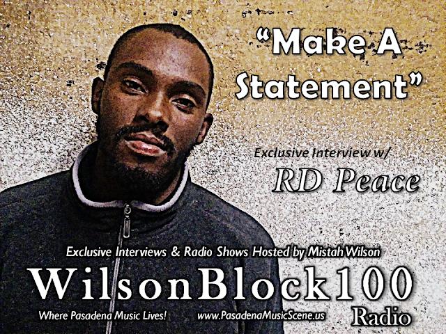 RD Peace first artist to break 1,000+ downloads on his interview w/ WilsonBlock100 Radio