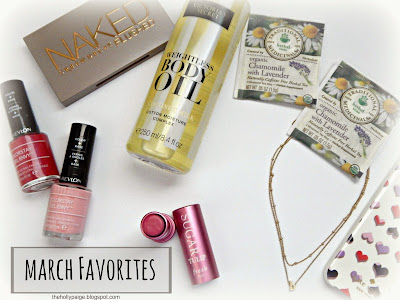 urban decay naked flushed, revlon gel envy, fresh sugar lip treatment, tea, and jewlery: thehollypaige.blogspot.com