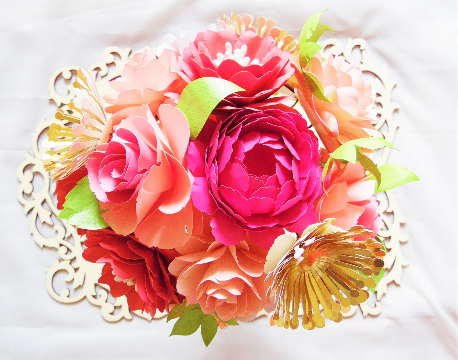 How To Diy A Paper Flower Bouquet Abbi Kirsten Collections