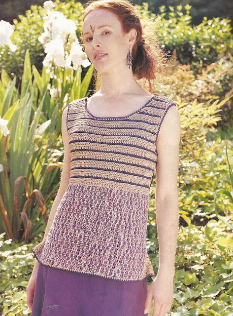 Patrón 929 Jersey en Lila a crochet