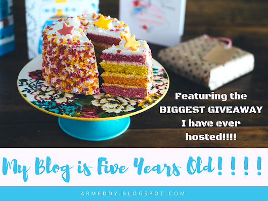 My Blog is Five Years Old! (feat. the BIGGEST GIVEAWAY I have ever hosted!!)