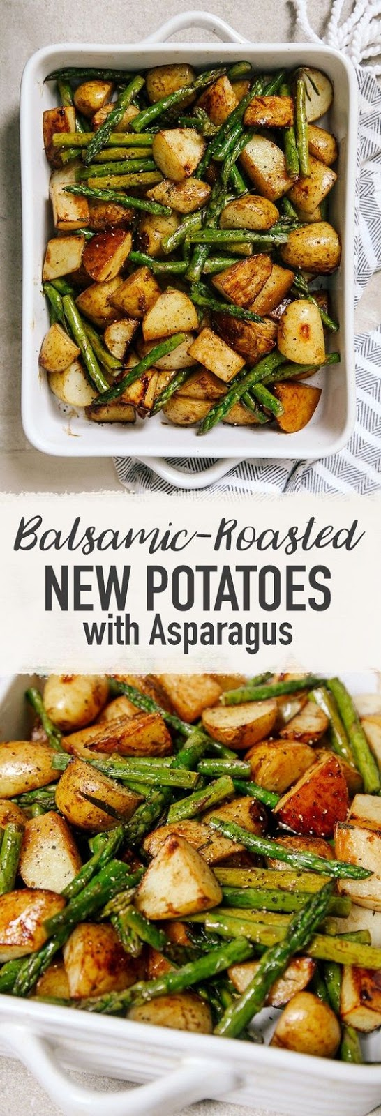 BALSAMIC ROASTED NEW POTATOES WITH ASPARAGUS #balsamic #roasted #potatoes #asparagus #veggies #vegetarianrecipes #veganrecipes