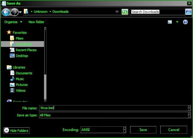 Cara Membuat Folder Locker dengan Notepad