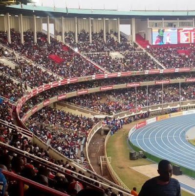 Ksh. 50M to Harambee stars  for a win and Ksh100,000 for a goal scorer - Promise DP Ruto and H.E Sonko   Harambee stars fans throng Kasarani for the contentious match against Ethiopia at 4.00PM. PHOTO | KIBIBI ALI