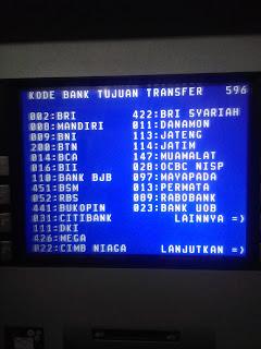 Daftar kode atm bank di indonesia