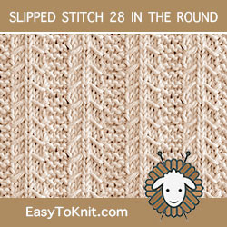 Slip Stitch Knitting 28 #knit in the round
