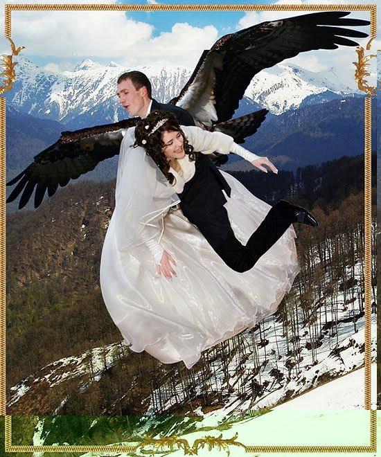 Craziest Wedding Ever: Copyranter: Crazy Photoshopped Russian Wedding Photos