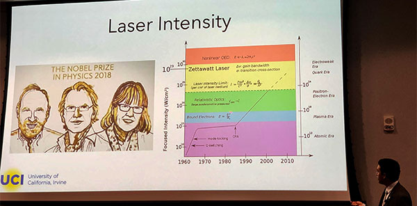 UCI Professor Franklin Dollar presentation at Breakfast Lecture Series (Source: Palmia Observatory)
