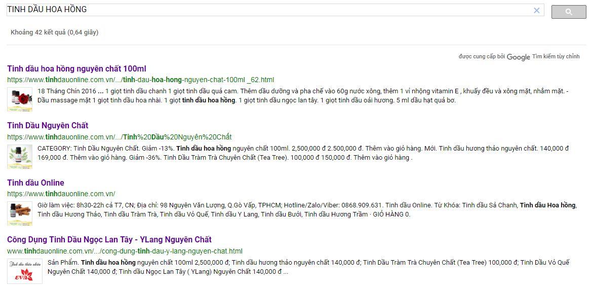 Hướng Dẫn Cài Đặt Tìm Kiếm Trên TinhDauOnline.Com.Vn - Ảnh 1