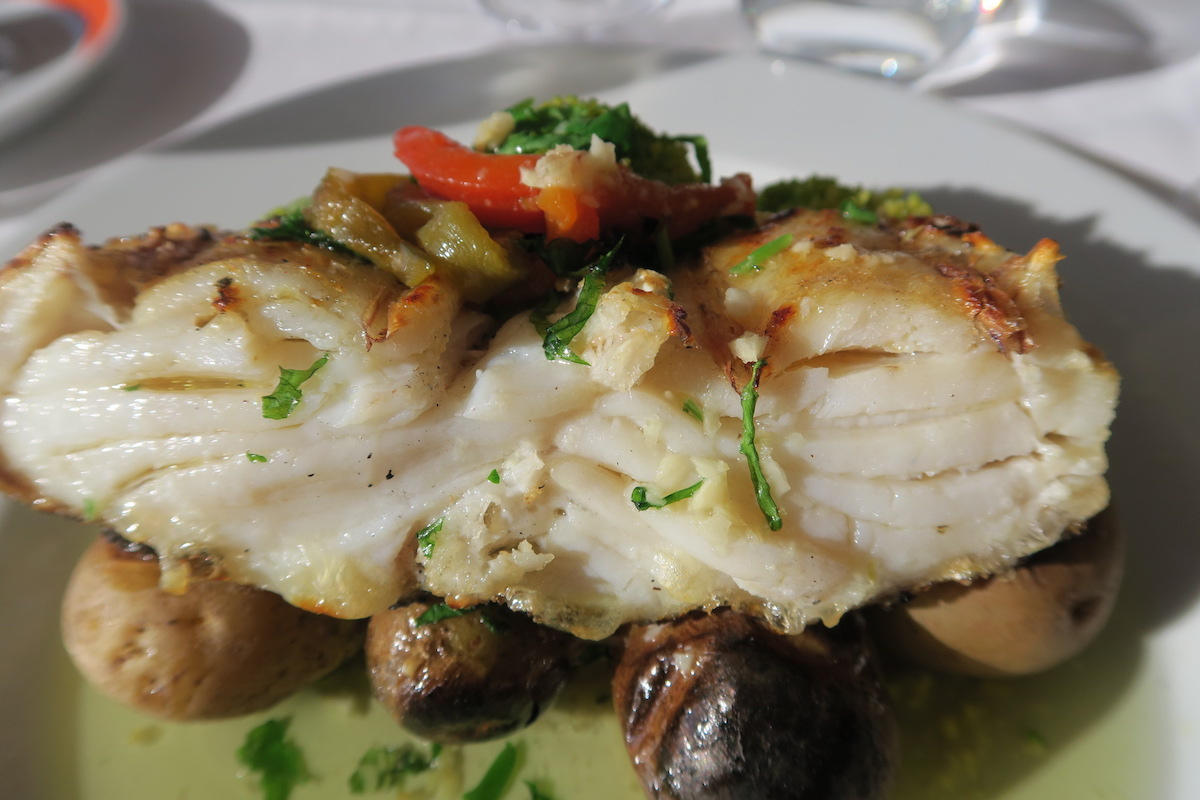 This is a close up photo of the cod fish at Azenhas do Mar in Sintra vicinity.
