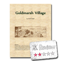 Frugal GM Review: Goldmarsh Village from Lupus Rex Games