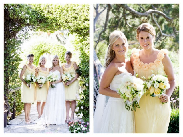 vintage california chic wedding of Oh Lovely Day | Photo by Jennifer Roper, bridesmaid dresses by Lela Rose