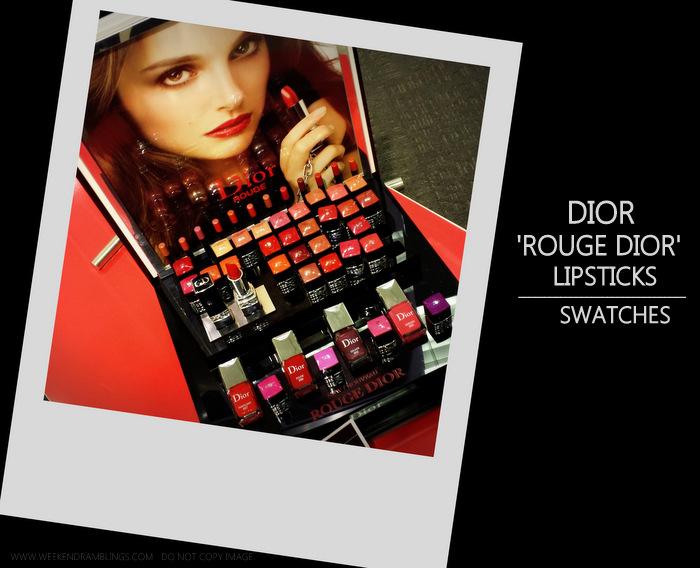 Rouge Dior Lipsticks - Photos Swatches