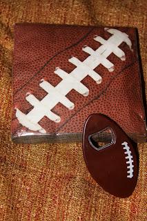 for the love of food diy football lovers gift basket. Black Bedroom Furniture Sets. Home Design Ideas