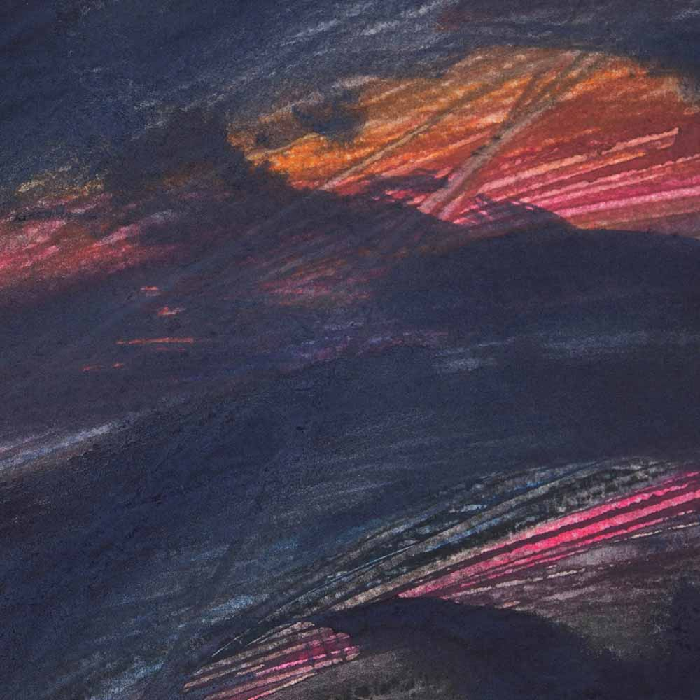 10 x 10 cm aquarelle et crayons sur papier, 23 juin 14