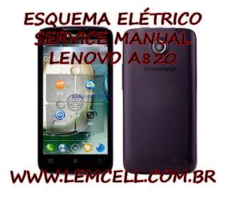 Esquema Elétrico Smartphone Celular Lenovo A820 Manual de Serviço Service Manual schematic Diagram Cell Phone Smartphone Lenovo A820