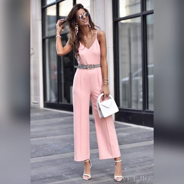 Αμάνικη ροζ ολόσωμη φόρμα ANDREA