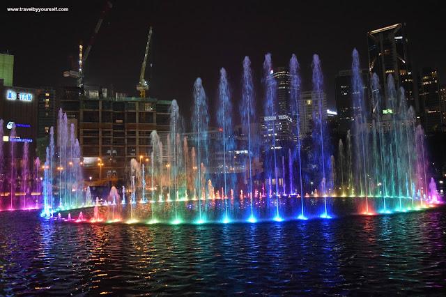 Water fountain show at Suria KLCC