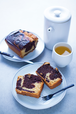 Vegan Débutant - cake choco-vanille