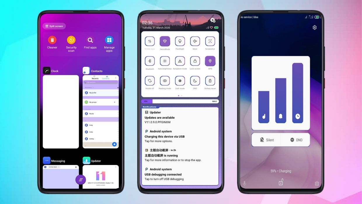 Wither Purple V11 MIUI Theme
