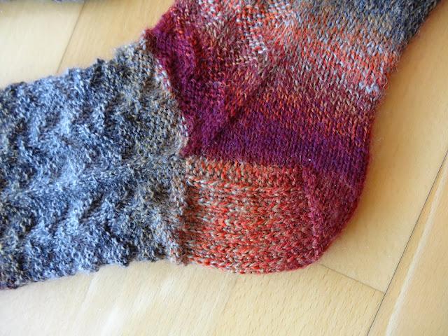 Slip stitch Flap heel