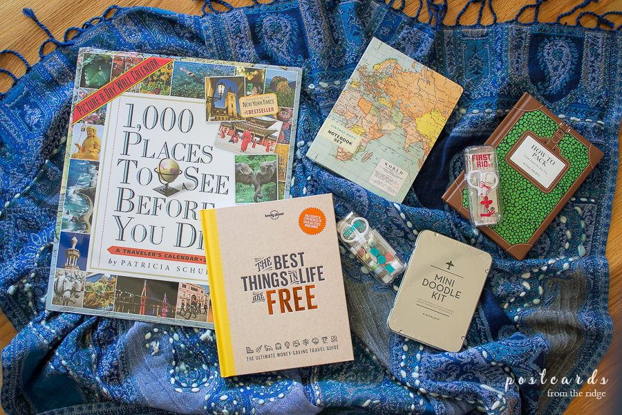 books, calendars, and journals with a travel theme